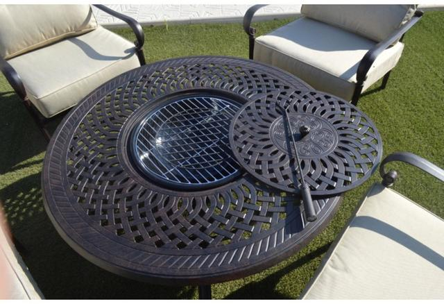 Almeria Terrace Set with Firepit