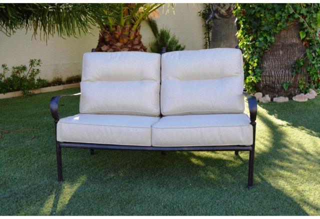 Almeria Cast Aluminium 2 Seat Sofa