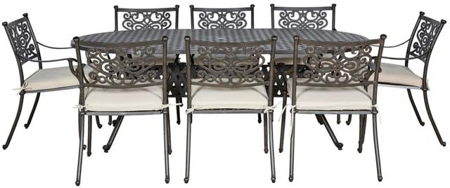 Almeria Oval 8 seater Dining Set