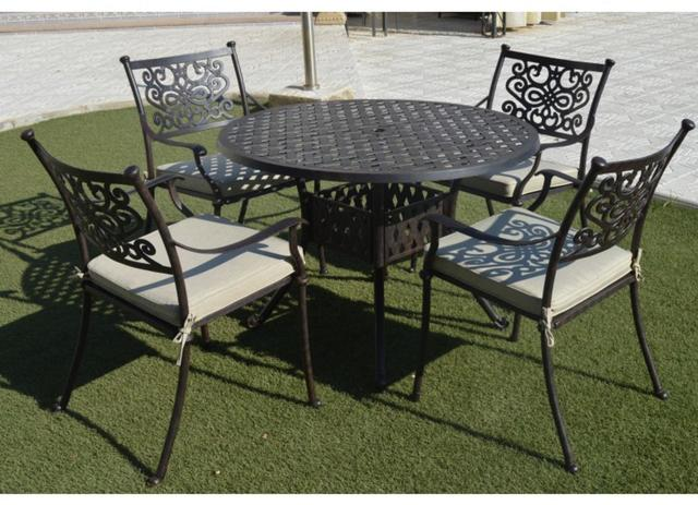 Almeria Round 4 Seater Patio Set
