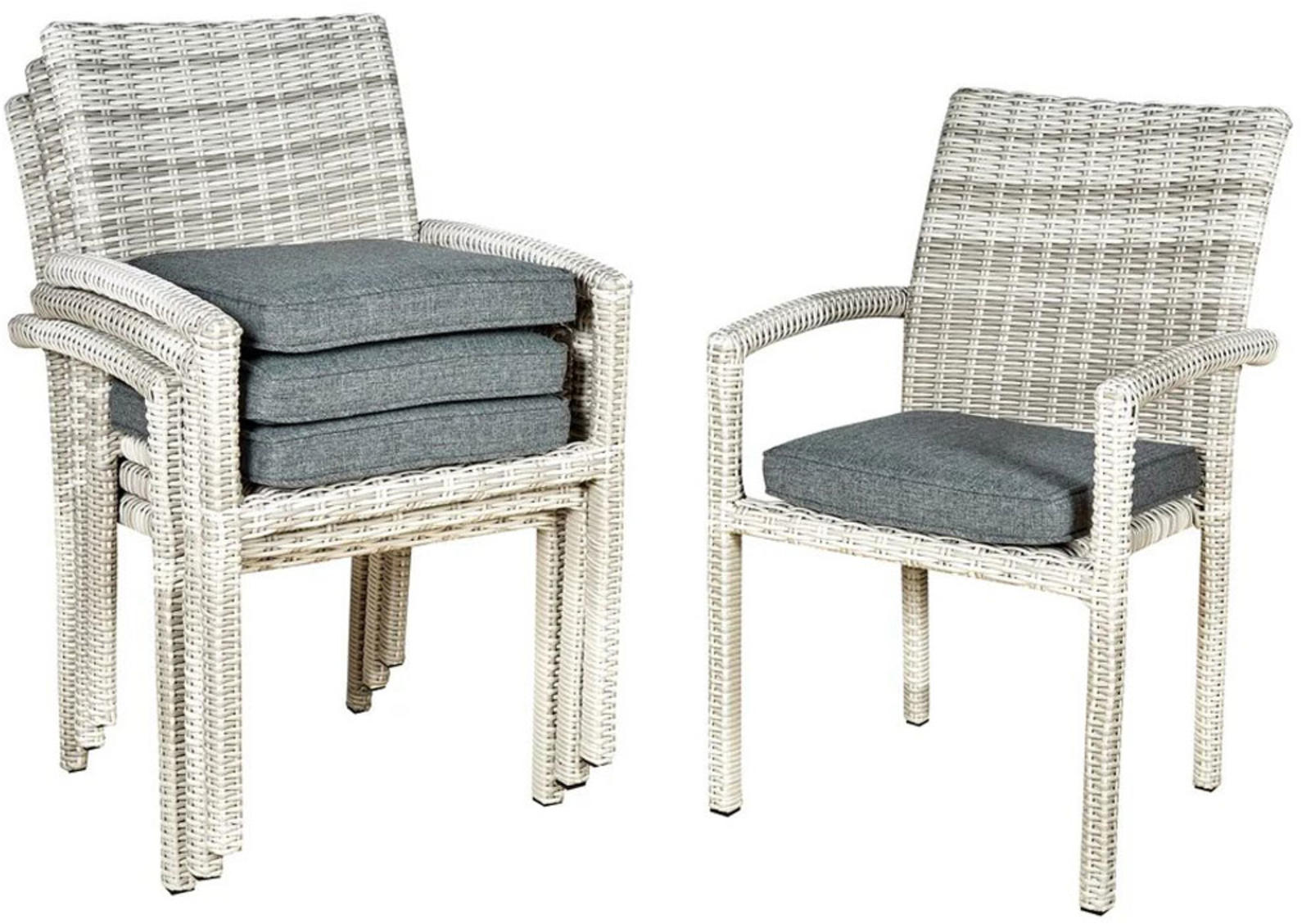 Set Of 4 Rattan Dining Chairs Inspired 4 Furniture