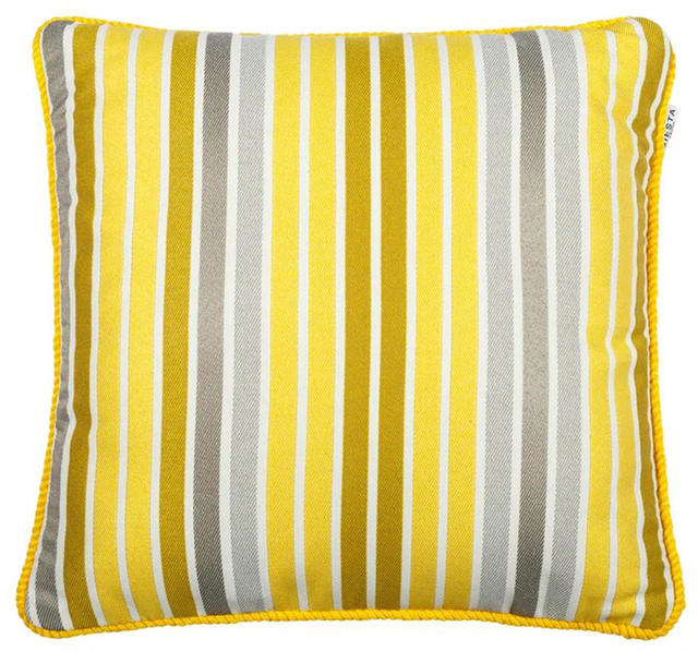 Yellow Striped Cushion Code 96585