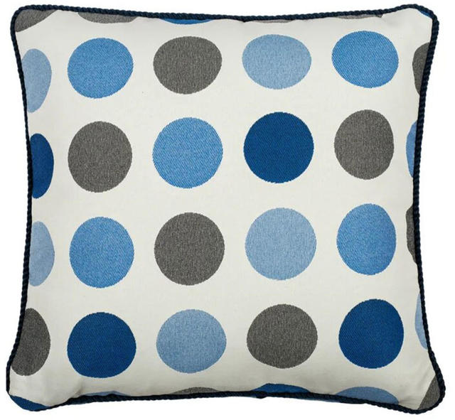 White Circles Cushion Code 96591