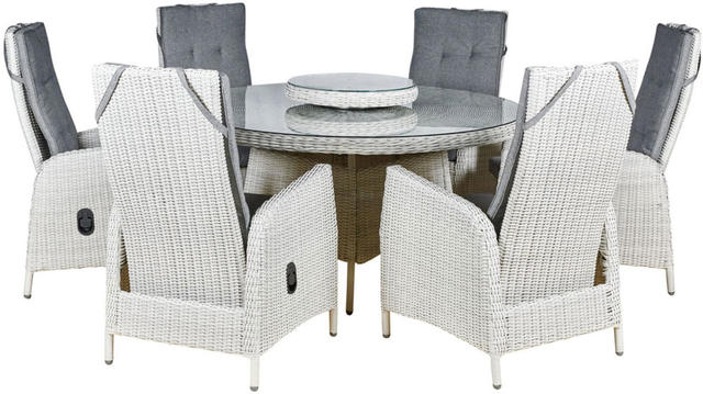 Malaga Round 6 Seater Reclining Dining Set