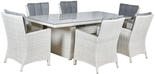 Malaga  6 Seater Oblong Dining Set