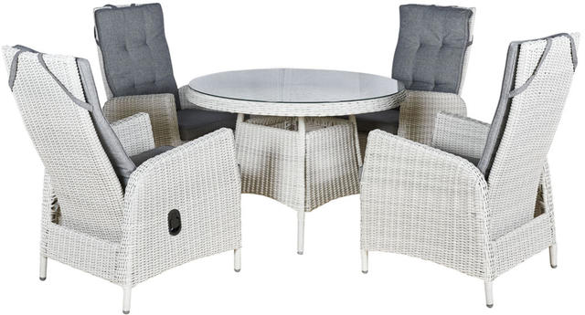 Malaga Round 4 seater Reclining Dining Set