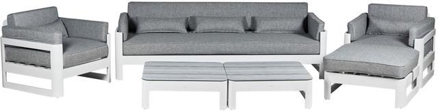 Cadiz Aluminium White Sofa Set