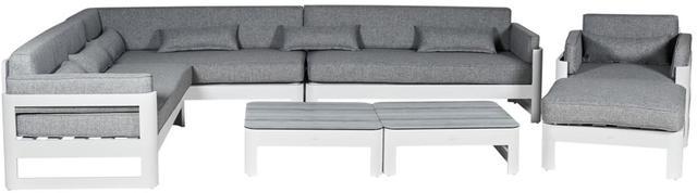 Cadiz  Aluminium White Corner Sofa Set