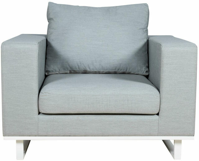 EGO Grey and White Armchair