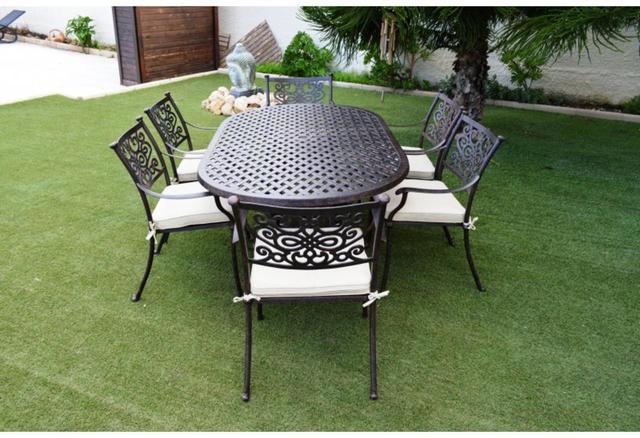 Almeria Oval Cast Aluminium Patio Table